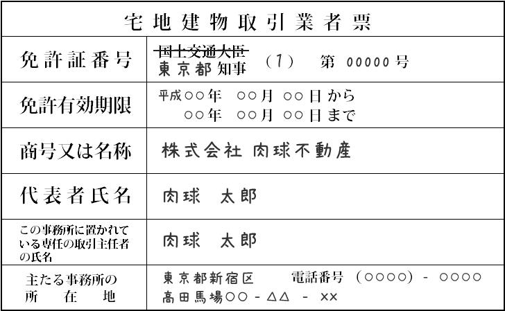 宅地建物取引業者票 - dousan.com